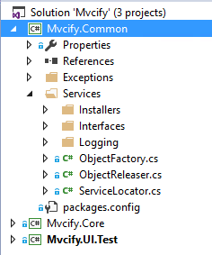 mvcify-common-folder-structure
